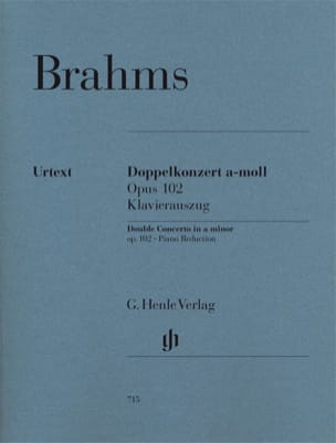 BRAHMS - Double Concerto, Opus 102 - Violin, Cello and Piano - Sheet Music - di-arezzo.co.uk