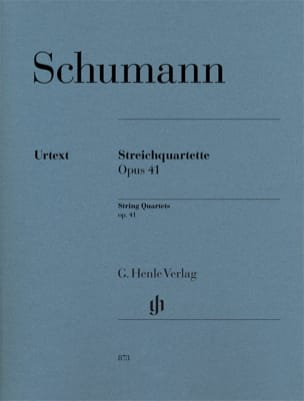 Robert Schumann - 3 Quatuors à Cordes, opus 41 - Parties - Partition - di-arezzo.fr