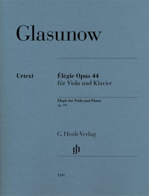 Alexandre Glazounov - Elégie, Opus 44 - Alto and Piano - Sheet Music - di-arezzo.co.uk