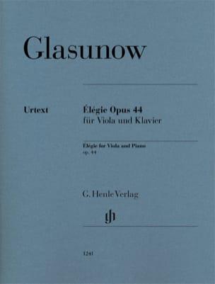 Alexandre Glazounov - Elégie, opus 44 - Alto et piano - Partition - di-arezzo.fr