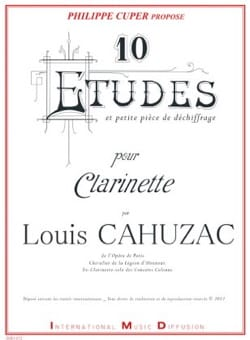Louis Cahuzac - 10 Studies and a small piece of deciphering - Sheet Music - di-arezzo.co.uk