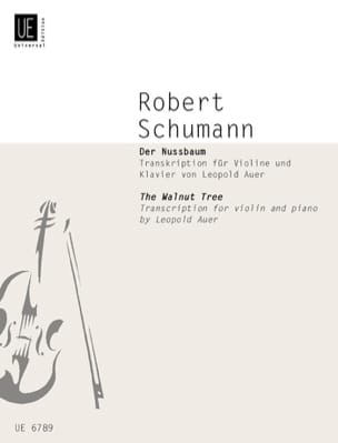 SCHUMANN - Der Nussbaum - The Walnut - Violin and piano - Sheet Music - di-arezzo.com