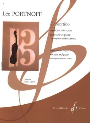 Leo Portnoff - Concertino, opus 13 - Partition - di-arezzo.fr