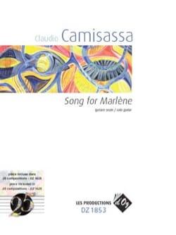 Song for Marlène - Claudio Camisassa - Partition - laflutedepan.com