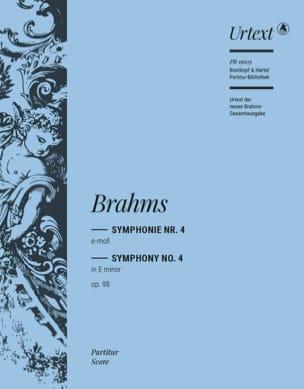 Symphonie n° 4, op. 98 BRAHMS Partition Grand format - laflutedepan