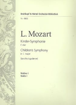 Leopold Mozart - Kinder Symphonie - Partition - di-arezzo.fr