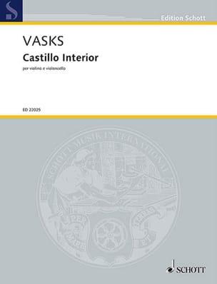 Peteris Vasks - Castillo interior - Violon et violoncelle - Partition - di-arezzo.fr
