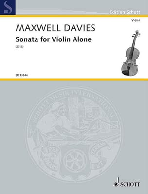 Davies Peter Maxwell - Sonata for Violin alone - Partition - di-arezzo.fr