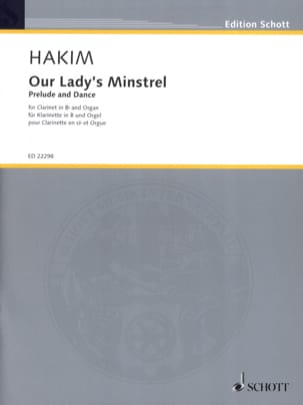Naji Hakim - Our Lady's Minstrel - Clarinette et Orgue - Partition - di-arezzo.fr