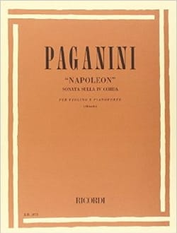 Napoleon, Sonata sulla 4a corda - Violon et piano - laflutedepan.com
