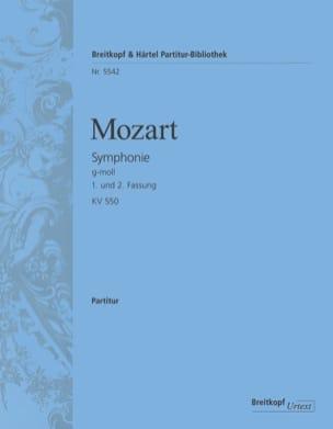 MOZART - Symphonie n° 40, Kv 550 - Conducteur - Partition - di-arezzo.fr