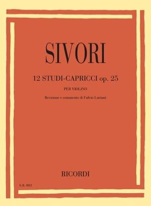 Camillo Sivori - 12 Studi-Capricci, op. 25 - Partition - di-arezzo.fr