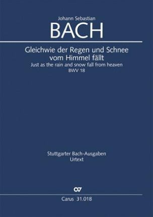 Cantate BWV 18 - Conducteur - Johann Sebastian Bach - laflutedepan.com