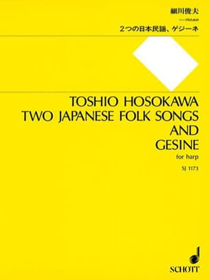 Toshio Hosokawa - Two Japanese Folk Songs and Gesine - Partition - di-arezzo.fr