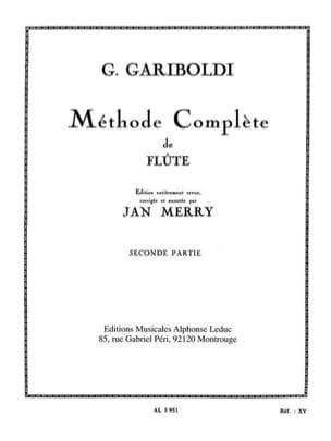 Méthode de Flûte - Volume 2 GARIBOLDI Partition laflutedepan