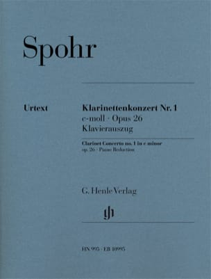 Louis Spohr - Clarinet Concerto No. 1, Op. 26 - Clarinet and Piano - Sheet Music - di-arezzo.com