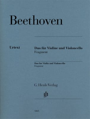BEETHOVEN - Duet for violin and cello - Fragment - Partition - di-arezzo.co.uk