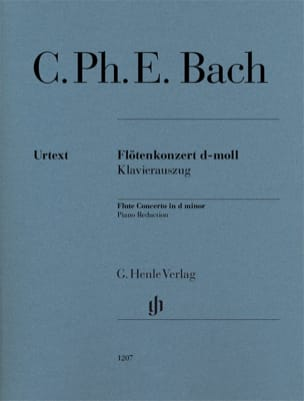 Carl Philipp Emanuel Bach - Concerto for Flute in D minor - Flute and piano - Sheet Music - di-arezzo.com