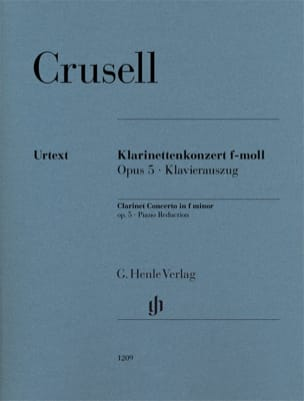 Bernhard Henrik Crusell - Clarinet Concerto, Op.5 - Clarinet and Piano - Sheet Music - di-arezzo.co.uk