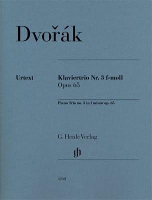 Antonin Dvorak - Trio avec piano n° 3, op. 65 - Parties + Conducteur - Partition - di-arezzo.fr