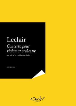 Jean-Marie Leclair - Violin Concerto Op. 7 No. 2 - Partition - di-arezzo.co.uk