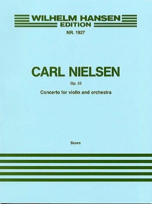 Concerto for Violin, op. 33 Carl Nielsen Partition laflutedepan