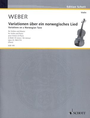 Variations sur un thème norvégien 1808 - Violon et piano laflutedepan
