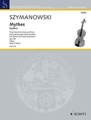 Karol Szymanowski - Myths, 3 poems - Violin and piano - Sheet Music - di-arezzo.co.uk