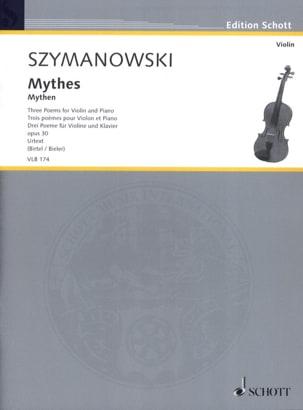 Karol Szymanowski - Myths, 3 poems - Violin and piano - Sheet Music - di-arezzo.com