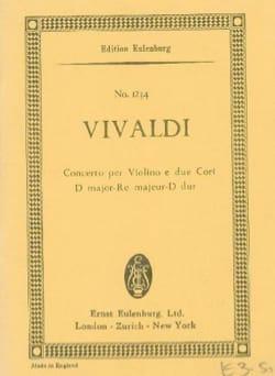 Antonio Vivaldi - Konzert D-Dur - Partition - di-arezzo.fr
