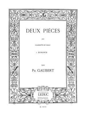 2 Pieces - n° 1 : Romance Philippe Gaubert Partition laflutedepan