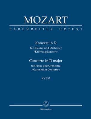 Wolfgang Amadeus Mozart - Klavierkonzert Nr. 26 D-Dur KV 537 (Krönungs) - Partition - di-arezzo.fr