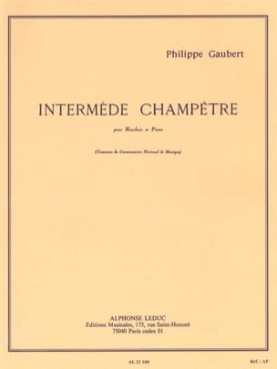 Intermède champêtre Philippe Gaubert Partition Hautbois - laflutedepan