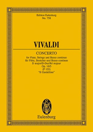 Konzert D-Dur Gardellino - VIVALDI - Partition - laflutedepan.com