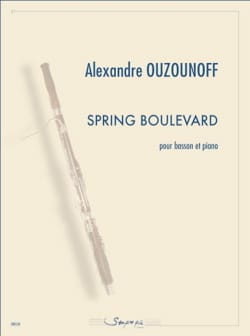 Alexandre Ozounoff - Spring Boulevard - Basson et piano - Partition - di-arezzo.fr