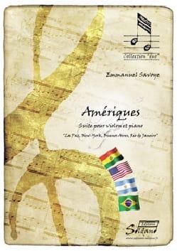 Amériques Emmanuel Savoye Partition Violon - laflutedepan