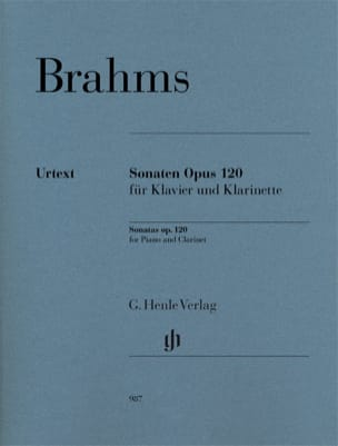 BRAHMS - Sonates Opus 120 - Clarinet and Piano - Sheet Music - di-arezzo.com