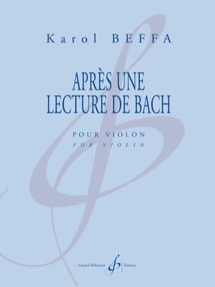 Karol Beffa - Après une Lecture de Bach - Partition - di-arezzo.fr