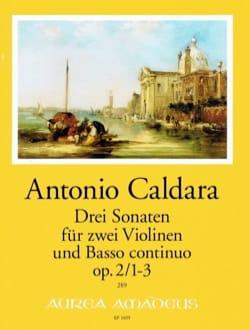 3 Sonates - 2 Violons et BC Antonio Caldara Partition laflutedepan