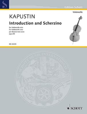 Nikolai Kapustin - Introduction and Scherzino - Solo Cello - Sheet Music - di-arezzo.com