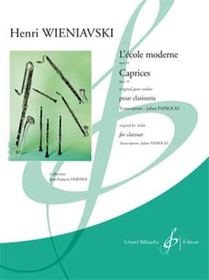 WIENIAWSKI - The Modern School / Caprices - Clarinet only - Sheet Music - di-arezzo.co.uk