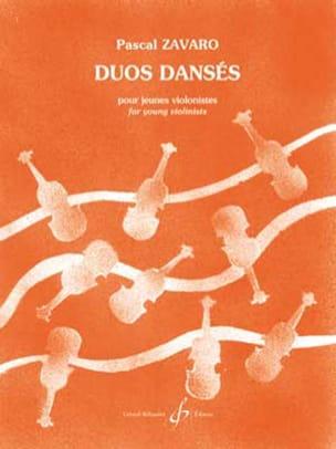 Pascal Zavaro - Duos dansés - 2 violons - Partition - di-arezzo.fr