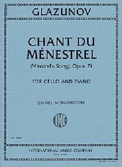 Alexandre Glazounov - Chant du Ménestrel, Op. 71 - Cello and Piano - Sheet Music - di-arezzo.co.uk