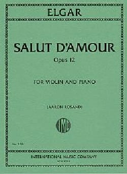Salut d'Amour, opus 12 - Violon et piano - laflutedepan.com
