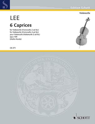 Sebastian Lee - 6 Caprices, Opus 109 - Cello - Sheet Music - di-arezzo.com