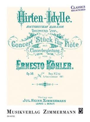 Ernesto KÖHLER - Hirten-Idylle, op. 58 - Flûte et piano - Partition - di-arezzo.fr