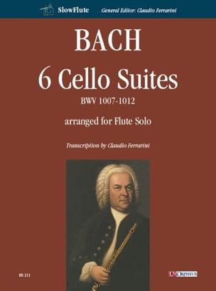 6 Suites, BWV 1007-1012 - Flûte seule - BACH - laflutedepan.com