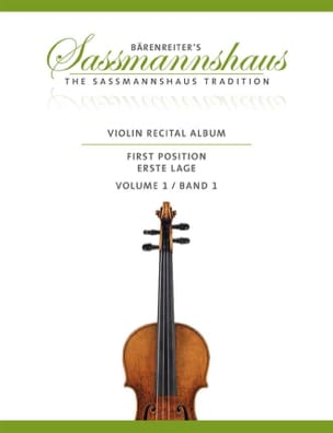 egon sassmannshaus - Violon Recital Album, Vol. 1 - Partition - di-arezzo.fr