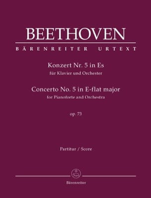 Concerto pour piano n° 5 - Conducteur BEETHOVEN Partition laflutedepan