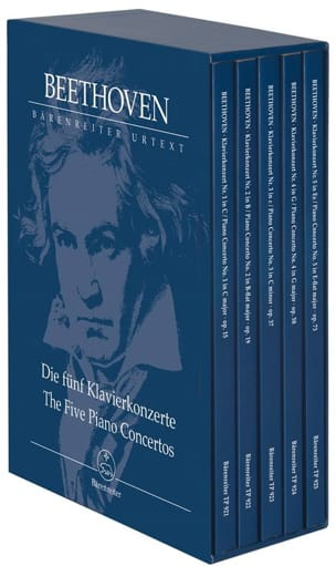 BEETHOVEN - Box of 5 concertos for piano and orchestra - Sheet Music - di-arezzo.co.uk